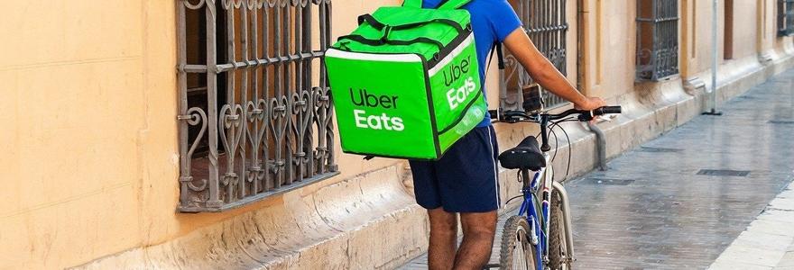 livreur chez Uber Eats